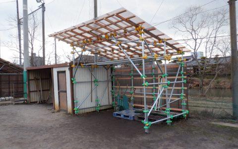 松江北高校野球グラウンド道具置場設置工事